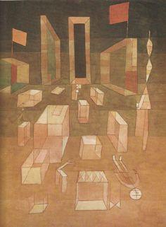 PAUL KLEE Nichtkomponiertes im Raum Kunstdruck Farbdruck Art Print aus den 50er | eBay