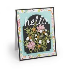 Hello Flowers Card #4 - Tim Holtz Alterations - March - Coming Soon - Column 1 - Products
