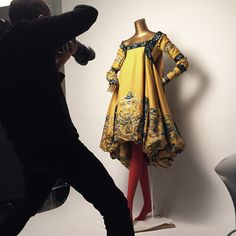 "Read an interview with Platon, who spent several months photographing the couture garments in the ""China: Through the Looking Glass"" catalogue. #ChinaLookingGlass #AsianArt100"