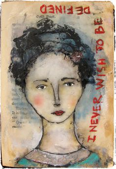 Lynne Hoppe: Gouache, oil pastels, pan pastel, watercolors & black gesso on beeswax in her daily art book journal