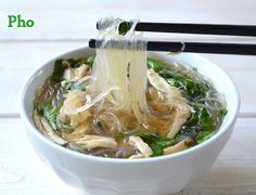 Easy Chicken Pho - A bowl of this easy flavor filled soup is like a big 'ol bear hug!