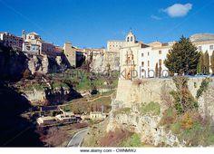 Descripción general de la Hoz del Huécar.  Cuenca, Castilla La Mancha, España.  - Imagen de archivo