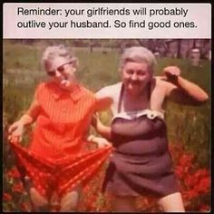 Crazy old lady friends