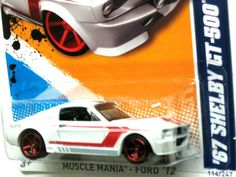 1967 Shelby GT-500 Hot Wheels 2012 MUSCLE MANIA-FORD #4/10 WHITE (LQQK) #HotWheels #Shelby