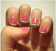Fruity nail art is perfect for spring!