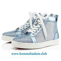 6f3cca2849b2 Christian Louboutin Femme Louis Strass AQUA Classique Strass Le Chaussures  Boutique