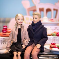 """Happy Valentine's Day! Loving this afternoon filled with red & pink macarons at @ladureeus! #barbie #barbiestyle"""