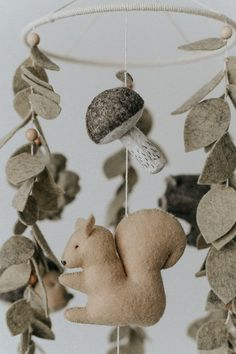 Your place to buy and sell all things handmade Woodland Mobile, Woodland Nursery Decor, Woodland Baby, Woodland Theme, Cot Mobile, Baby Crib Mobile, Baby Cribs, Cool Baby, Little Acorns