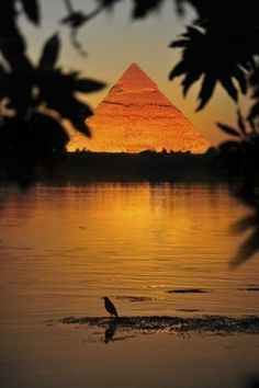 Vu du ciel, on distingue le tracé du Nil grâce à la vallée verdoyante sur ses rives, qui se détache du désert. Le plus grand fleuve du monde, né de la rencontre entre le Nil Blanc et le Nil Bleu, termine sa course au nord du Caire, dans la Méditerranée. Un parcours de 6 700 km, qui, avant le delta, longe près du Caire la pyramide Gizeh.
