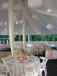 Tent wedding at Lyndhurst Castle