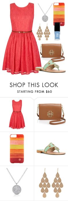 """""""Happy Easter!"""" by meriberry ❤ liked on Polyvore featuring Yumi, Tory Burch, Jack Rogers, Irene Neuwirth and JINsoon"""