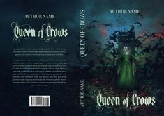 "Dark fantasy premade book cover ""Queen of Crows"" available for sale on my site. Book Covers For Sale, Fantasy Book Covers, Premade Book Covers, Fantasy Books, Base Image, Ebook Cover, Book Title, Text Color, Book Cover Design"