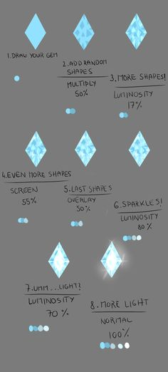 How do I draw: Gems by Lairai.deviantart.com on @deviantART