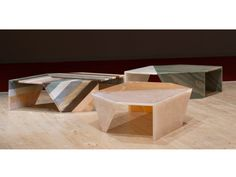 Marble coffee table ORIGAMI Nat(f)use Collection by Budri | design Patricia Urquiola