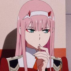 Zero two art Anime Angel, Ange Anime, Cool Anime Pictures, Cute Anime Pics, Anime Girl Cute, Anime Girls, Cute Anime Profile Pictures, Anime Wolf, Otaku Anime