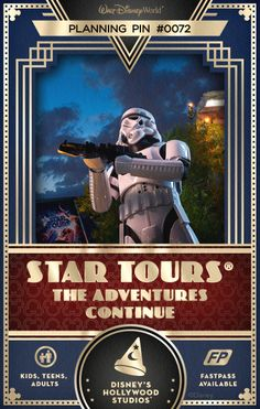 Walt Disney World Planning Pins: Feel the power of the Force during a 3D, motion-simulated space flight that launches you into the world of Star Wars.