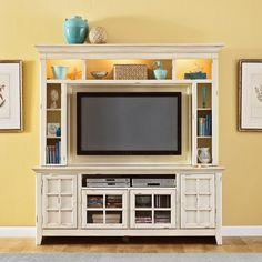 Have to have it. New Generation White Mountable Flat Panel Entertainment Center - $1297.99 @hayneedle