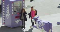 Vending Machine Makes Strangers Hold Hands To Get Free Chocolate