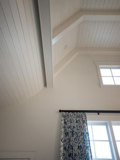 The slope in the ceiling of the HGTV Smart Home 2014 echoes the sloped roof line on the front porch commonly seen in Tudor-style homes. Hgtv, Room, Renovation Design, Home, Smart Home, Home Renovation, Bedroom Pictures, Tudor Style Homes, Great Rooms