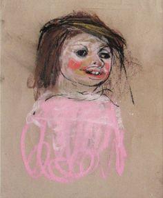 Pink Jumper, Joan Eardley - The Scottish Gallery, Edinburgh - Contemporary Art Since 1842 Painting Collage, Figure Painting, Painting Portraits, Paintings, A Level Art, Portrait Art, Figurative Art, Art Sketches, Find Art