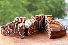 Recette de gâteau zébré au Thermomix TM31 ou TM5. Réalisez ce dessert en mode étape par étape comme sur votre robot !