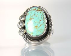 Light Blue Turquoise Ring Sterling Navajo jewelry by RMSjewels