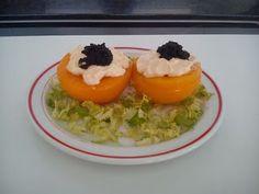Cocinar es fácil con Chef Francina: Melocotones rellenos de atún y huevas.