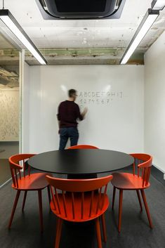 Black / Red Meeting Room