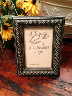 Love Sentiment Frame/4x6 Frame/Frame for by HerFaveRitThings
