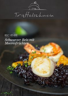 Schwarzer Reis mit Meeresfrüchten
