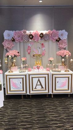 70 breathtakingly beautiful baby shower centerpieces for girls 41 Baby Girl Shower Themes, Girl Baby Shower Decorations, Baby Shower Princess, Birthday Party Decorations, Wedding Decorations, Baby Shower Pink, Girl Baby Showers, Princess Party Centerpieces, Baby Shower Table Set Up
