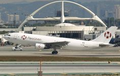 Airbus freighter XA-TWQ of AeroUnion Standing on tiptoes reaching for the sky in LAX