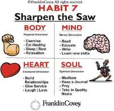 habit 7 sharpen the saw images - Google Search