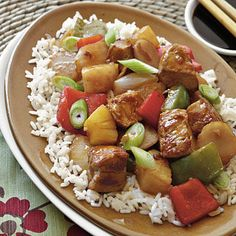 I made the Sweet and Sour Pork with my mother and sister. We had all given up this dish when eating out--the batter and super sweet sauce didn't fit my diet plan even before I had to become gluten free. This was a tasty and much lighter alternative. We loved the flavors of pineapple and peppers with the crunch of the water chestnuts. --Sherl Taylor