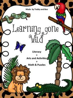 This product is perfect for when you're teaching about wild animals. It's divided into 3 sections; literacy, arts & activities and math & puzzles. The product includes:- 20 Animals flashcards- 5 pages of animal facts (which could be used as a teachers resource)- Jungle Riddles- 2 animal body parts worksheets- Read & Color worksheet- Reading Comprehension worksheet- Parrot Craft- 3 pages of Animal Action Cards- Jungle Maze Puzzle- Less and More worksheet- Funny Monkey puzzle- Numbe...