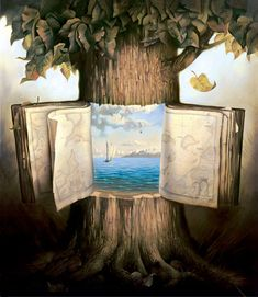 Seeing the beauty inside - beyond the bark. A sacred place is our inner architecture. Few be that find it. Art: Vladimir Kush
