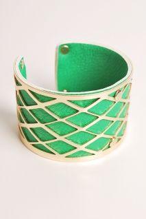 Kelly Green-Kapowski Bracelet   Peacock Plume