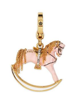 JUICY COUTURE PINK ROCKING HORSE CHARM
