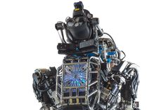 DARPA unveils humanoid Atlas robot to assist the military with transporting things and like being in a nuclear power plant.  Right, like we haven't seen this before.  Hello Skynet.  I for one welcome our Robot Overlords.  May the annihilation of the human race be swift, thorough, and met with no resistance.