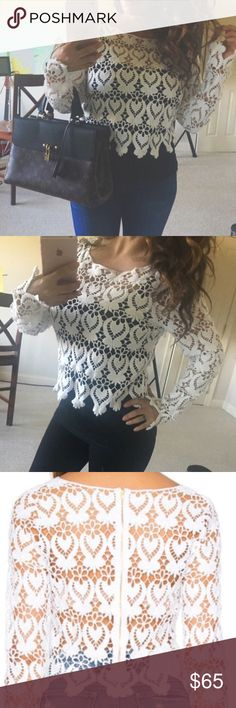 Lisa maree lace top revolve clothing crochet m hot Authentic Lisa Maree crochet top ✨✨ new without tags.. Only tried on for a few minutes.  Paid over $150 for this beauty ✨✨best for a size medium. Will fit small also if you like items a little looser. Perfect with Cami or just your bra. Amazing price :) free shipping ❤️❤️❤️❤️❤️❤️❤️❤️ from Revolve clothing. Sold out ❤️❤️❤️✨✨✨ Lisa maree Tops Blouses