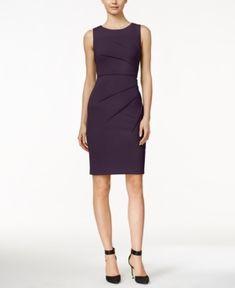 Calvin Klein Petite Starburst Sheath Dress - Purple 8P