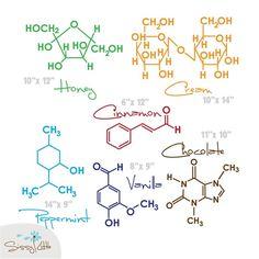 Sweet Molecules - Small - Set of 6 (1 Color). via Etsy.