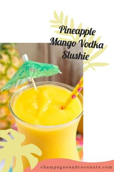 When you're craving a frozen alcoholic drink, make our Pineapple Mango Vodka Slushie recipe. Fire up your blender because this blended cocktail is absolutely blissful to sip to beat the heat. And the flavors are out of this world. Slush Recipes, Frozen Drink Recipes, Vodka Recipes, Frozen Drinks, Mango Vodka, Pineapple Vodka, Pineapple Cocktail, Frozen Pineapple