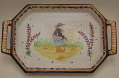 Ancien plat faïence HB quimper céramique