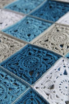 Plaid Sea breeze (large) - order at the Fair Masters . : Plaid Sea breeze (large) – order at the Fair of Masters – Crochet Afghans, Crochet Motifs, Crochet Quilt, Crochet Blocks, Afghan Crochet Patterns, Baby Blanket Crochet, Crochet Stitches, Knitting Patterns, Knit Crochet