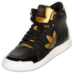 adidas Originals Midiru Court 2.0 Mid Women's Athletic Casual Shoes  FinishLine.com   Black/Gold