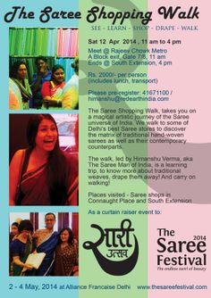 The Saree Shopping Walk / Sat 12 April | 1100 Walks