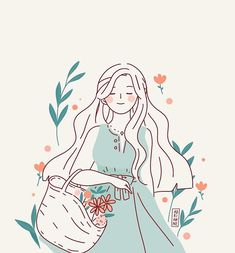 An exploration on other colour- rustic teal. Again, sooo tempted to use yellow for her dress. ☀️ Do you like this colour palette? Cartoon Kunst, Cartoon Art, Kunst Inspo, Art Inspo, Art And Illustration, Design Illustrations, Pretty Art, Cute Art, Illustrator