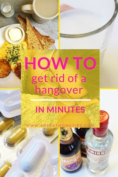 Woken up with a hangover? If you overdid it on the alcohol last night, don't . Best Thing For Hangover, Get Rid Of Hangover, Natural Hangover Cure, Hangover Tips, Hangover Symptoms, Hangover Drink, Bad Hangover, Home Remedies, Breakfast