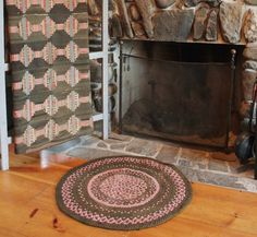 Authentic Farmhouse Antique Braided Rug by robinseggbleunest on Etsy https://www.etsy.com/listing/166624861/authentic-farmhouse-antique-braided-rug